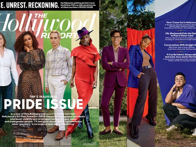 The Hollywood Reporter's Pride issue is literally the Show Your Work of covers