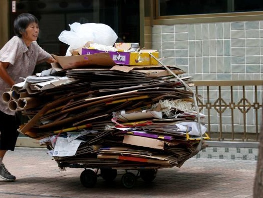 Hong Kong's 'cardboard grannies' work into their 90s for $5 a day to make ends meet