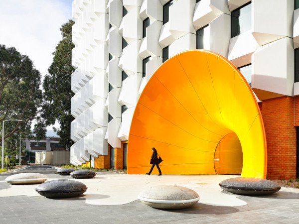 Monash University's biology building gets a new skin
