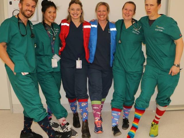 Crazy Socks 4 Docs Day at the Canberra Hospital