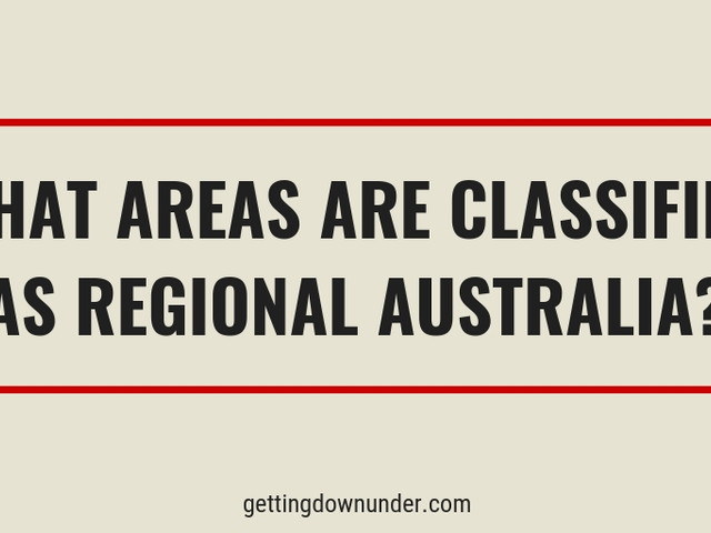 What Is Considered Regional Australia
