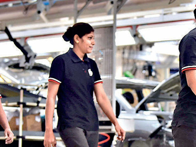 More women manning auto assembly lines