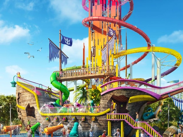 Attention, Adventure Seekers: Royal Caribbean's New Thrill Waterpark Has a 135-Foot Waterslide!