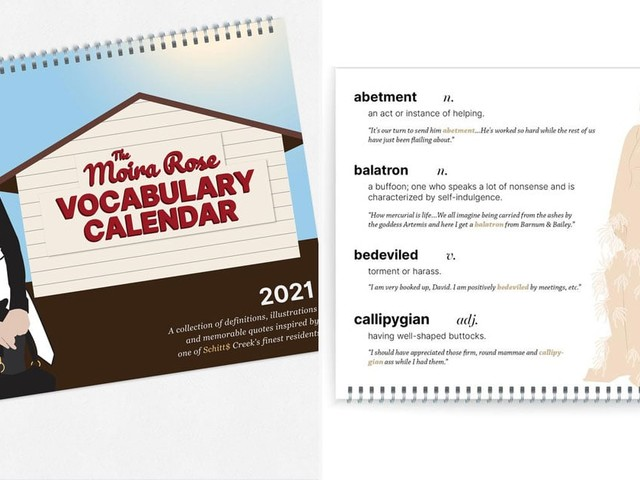 Have a Splendacious 2021 With This Moira Rose Vocabulary Calendar