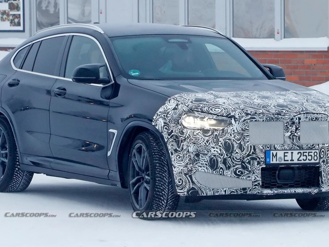 Facelifted 2022 BMW X4 M Wears Its 'M' Badge Beneath The Camo