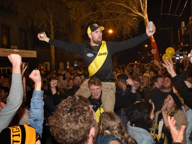 Locked down Richmond fans put on notice to avoid repeat of GF celebrations