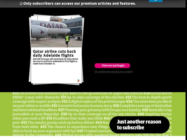 Qatar airline cuts back daily Adelaide flights