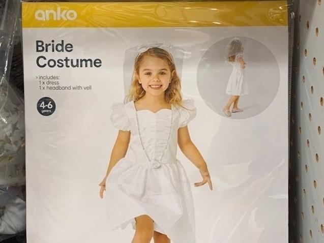 Kmart pulls 'offensive' children's wedding costume from shelves