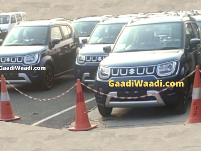 2020 Maruti Ignis Facelift Spotted In India Ahead Of Launch