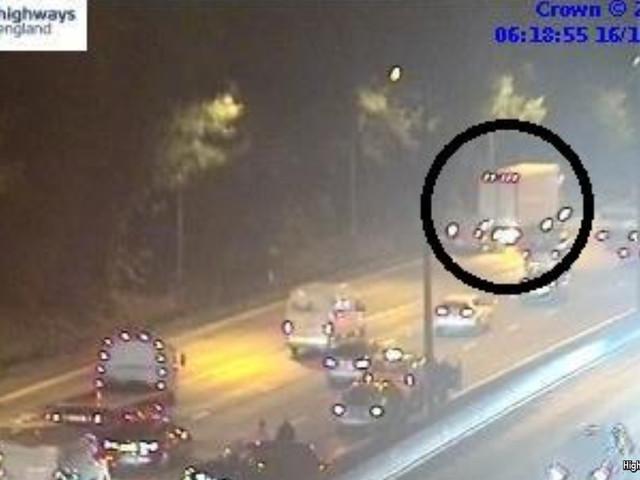 Multi-vehicle crash on M25 during morning rush hour