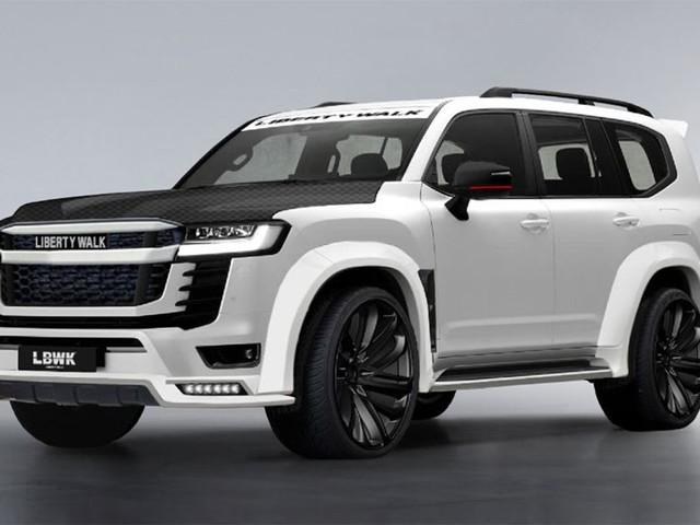 The wildest 2022 Toyota LandCruiser yet? Liberty Walk body kit turns Nissan Patrol rival into widebody monster!