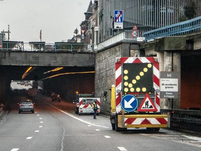Charleroi: accident avec un camion-citerne sur le R9