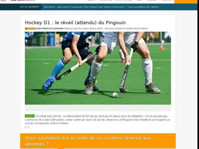 Hockey D1 : le réveil (attendu) du Pingouin