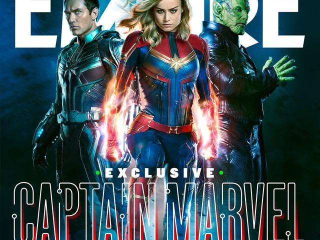 Captain Marvel : Carol Danvers et ses amis verts en couverture d'Empire !