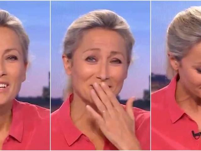 Le fou-rire d'Anne-Sophie Lapix au JT de France 2
