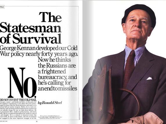 Un archive exceptionnelle : Entretien avec George Kennan – Le risque nucléaire (1985)