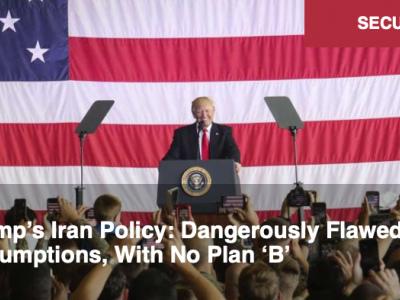 La politique de Trump à l'égard de l'Iran : des hypothèses dangereusement faussées, et pas de plan « B ». Par Alastair Crooke