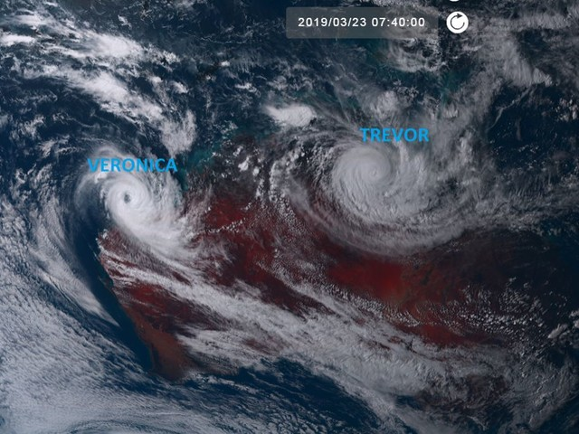 Trevor et Veronica : les 2 cyclones tropicaux qui sévissent en Australie