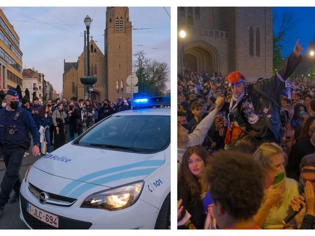 Déconfinement à Ixelles: la place Flagey noire de monde, la police demande aux fêtards de quitter les lieux (photos)