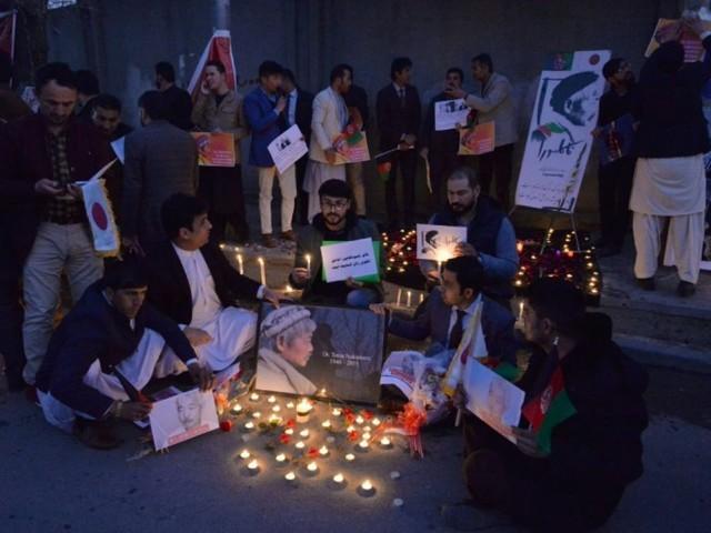 Kaboul: veillée funèbre pour le médecin japonais tué avec cinq afghans dans un attentat