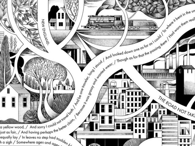 Visualizing Robert Frost's Seminal Poem