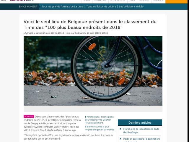 """Voici le seul lieu de Belgique présent dans le classement du Time des """"100 plus beaux endroits de 2018"""""""