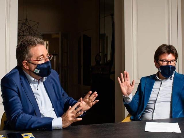 """Rudi Vervoort et Sven Gatz évoquent l'avenir de Bruxelles: """"Attirer deux fois plus de touristes en 2021 qu'en 2020"""""""