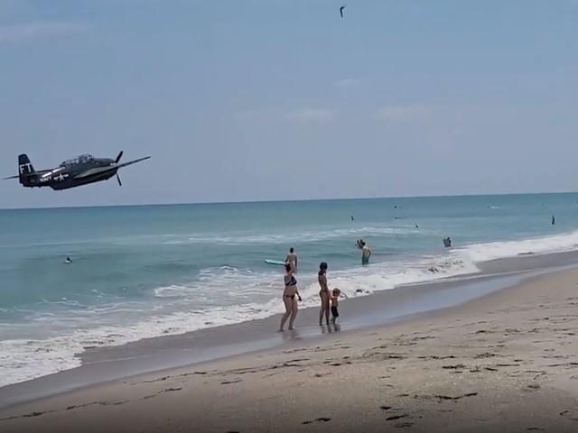 Amerikaans oorlogsvliegtuig maakt noodlanding op strand in Florida