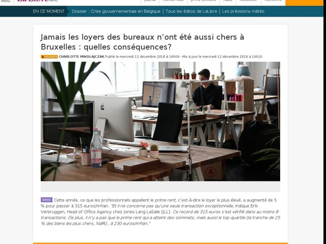 Jamais les loyers des bureaux n'ont été aussi chers à Bruxelles : quelles conséquences?