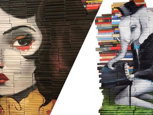 Mike métamorphose les livres dont personne ne veut en de magnifiques œuvres d'art