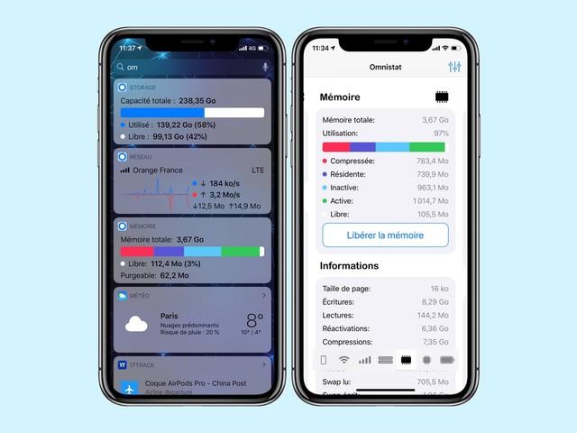 Omnistat 2: une app pour garder un oeil sur la santé et l'utilisation de son appareil