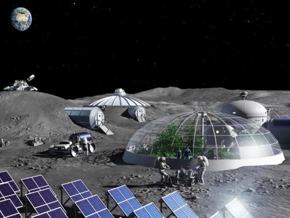 Cette centrale peut générer de l'oxygène à partir de poussière lunaire