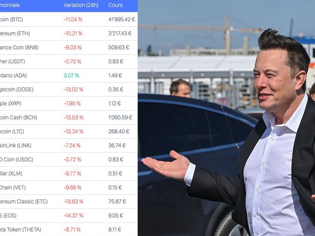 Les cryptomonnaies en chute libre après l'annonce d'Elon Musk sur le Bitcoin