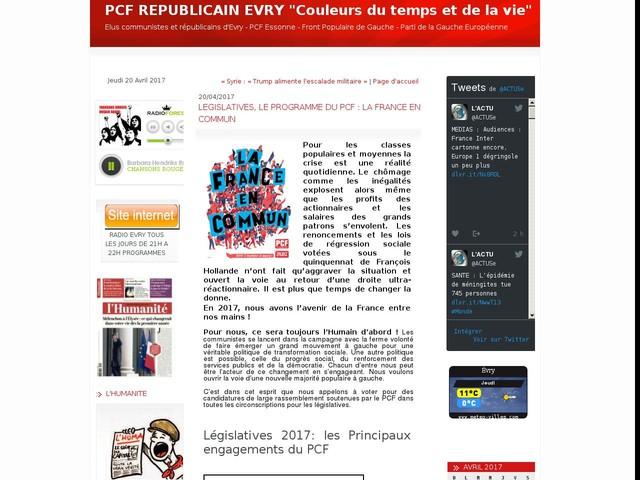 LEGISLATIVES, LE PROGRAMME DU PCF : LA FRANCE EN COMMUN
