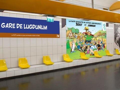 Les stations de métro à Paris renommées par Astérix pour ses 60 ans