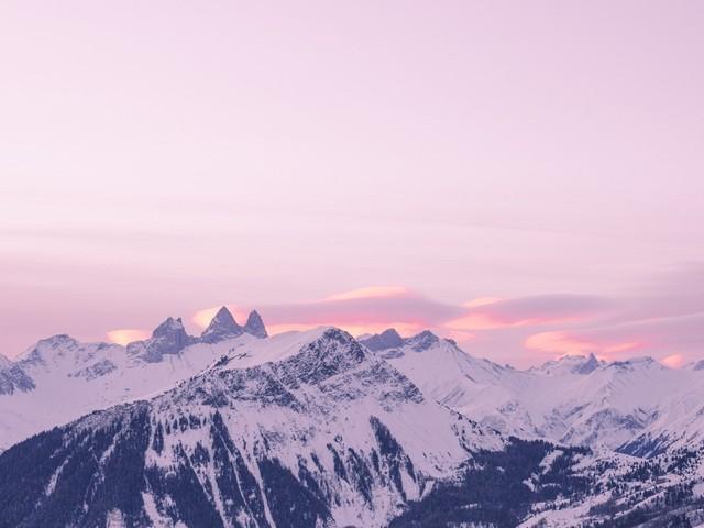 Clichés d'un hiver à la montagne, sans les remontées mécaniques