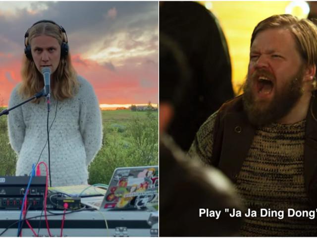 IJslandse Eurovisiedeelnemer Daði Freyr covert 'Jaja Ding Dong' uit Eurovisiefilm Netflix