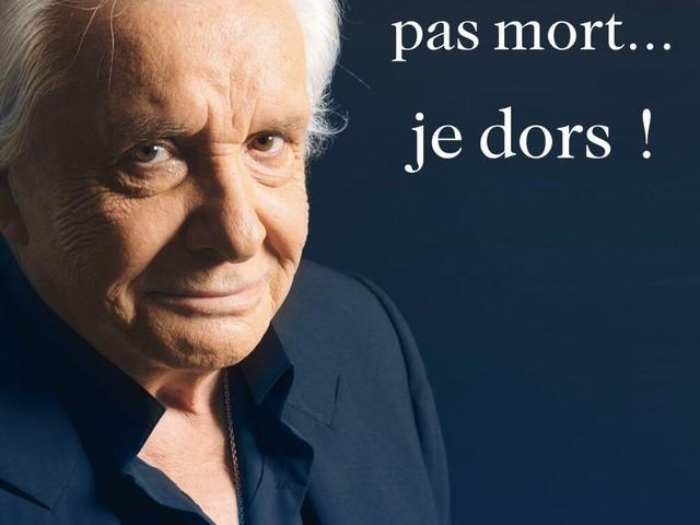 Je ne suis pas mort… je dors ! Confessions écrites de Michel Sardou.