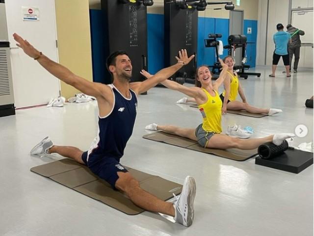 Novak Djokovic moet niet onderdoen voor Nina Derwael