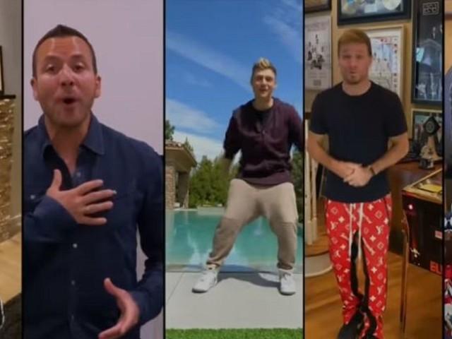 """Confinés chez eux, les Backstreet Boys interprètent """"I Want It That Way"""" par écrans interposés"""