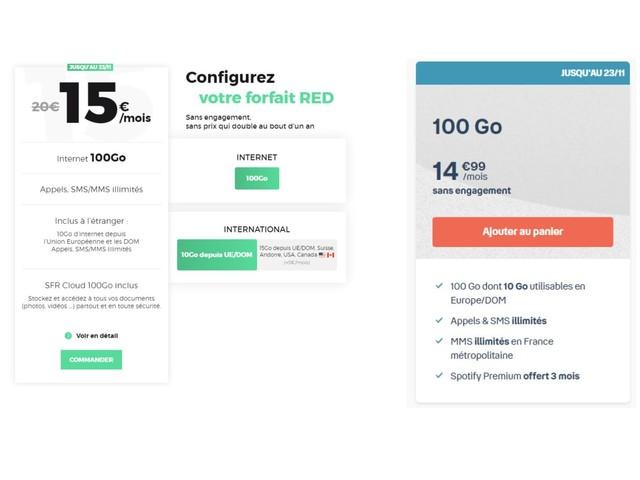 RED by SFR ou B&You : dernier jour pour les forfaits 100 Go à 15 euros