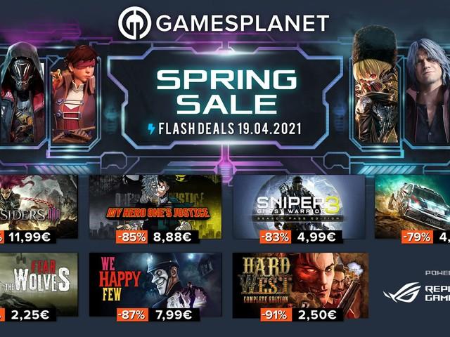 Gamesplanet : les Spring Sales continuent ce lundi avec 300 jeux soldés pendant 24h