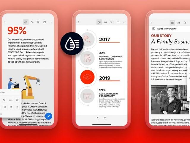 Liquid Mode, le projet d'Adobe pour dépoussiérer le PDF sur mobile