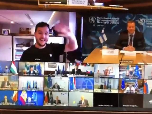 Zoom: un journaliste s'immisce dans une réunion secrète de ministres européens