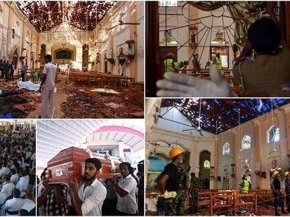Des images de surveillance montrent un suspect entrer dans l'église peu avant une des attaques au Sri Lanka (VIDEO)