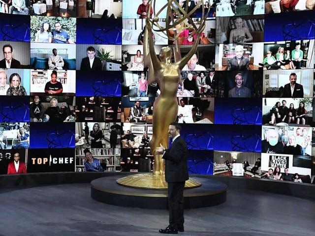 """""""Bienvenue aux pand-Emmys"""" : l'exercice délicat de Jimmy Kimmel"""