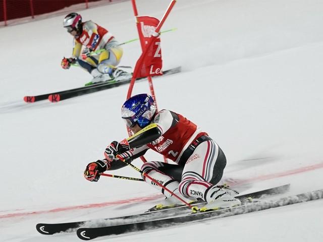 Alexis Pinturault wint wereldbekermanche parallelle reuzenslalom in Lech
