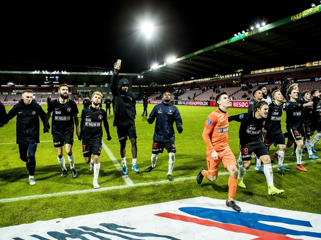Dion Cools en Brian Priske vieren Deense titel met FC Midtjylland