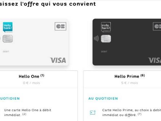 Hello Prime, Boursorama Ultim, Fortuneo Fosfo : le match des nouvelles cartes premium