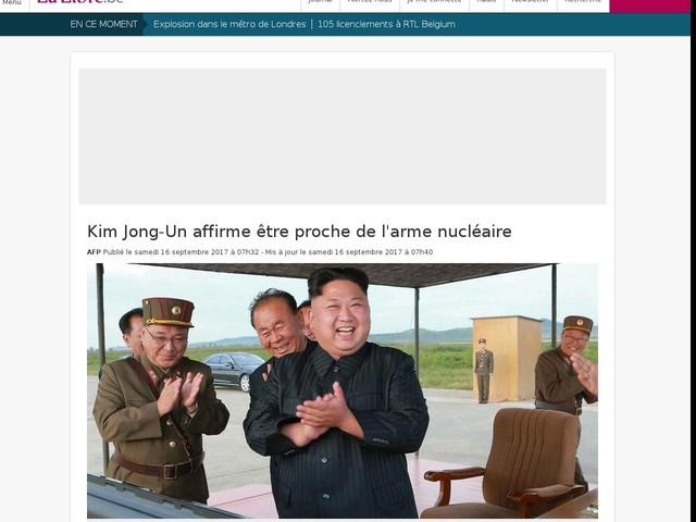 Kim Jong-Un affirme être proche de l'arme nucléaire